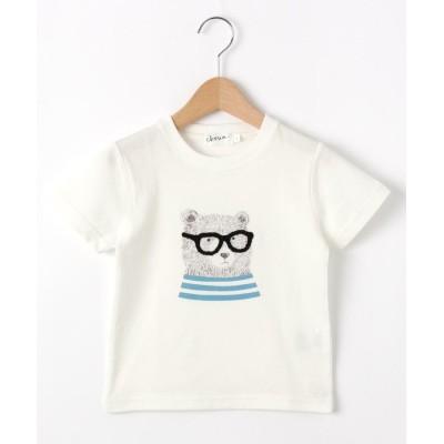Dessin(Kids)(デッサン(キッズ)) 【100~140cm】ベアグラフィッククルーネックTシャツ