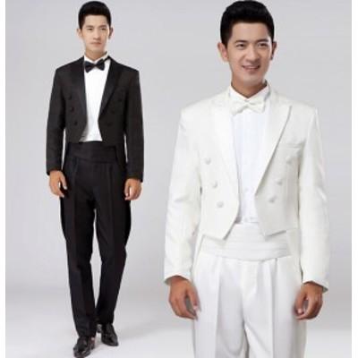 メンズ/スーツ/タキシード/フォーマル/ ビジネスドレス/上下セット/礼服/結婚式/お祝い/成人式/卒業式/入学式/黒/白