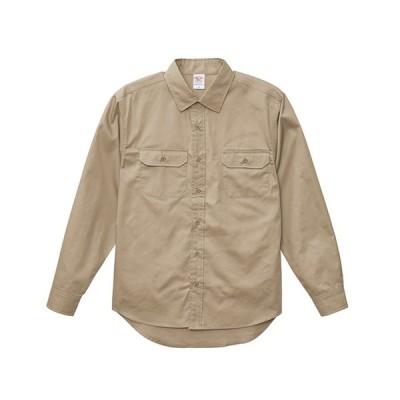 1773-01 ユナイテッドアスレワークスT/Cワーク長袖シャツ S〜XLサイズ