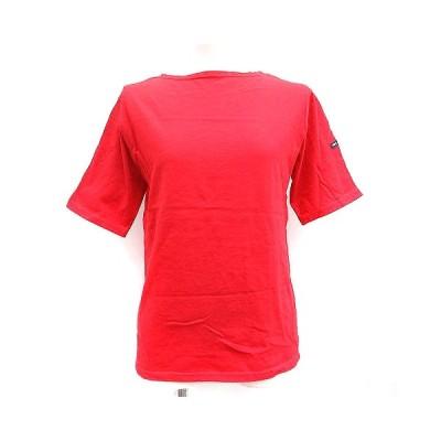 【中古】セントジェームス SAINT JAMES Tシャツ カットソー 半袖 無地 赤 レッド /AD11 レディース 【ベクトル 古着】