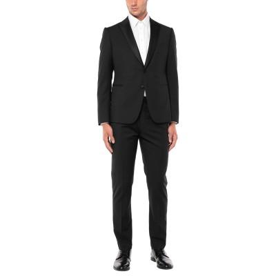 エンポリオ アルマーニ EMPORIO ARMANI スーツ ブラック 52 バージンウール 100% / ポリエステル / シルク / レーヨン