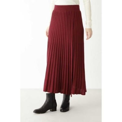 HUMAN WOMAN / ヒューマンウーマン 《arrive paris》巻きニットプリーツスカート