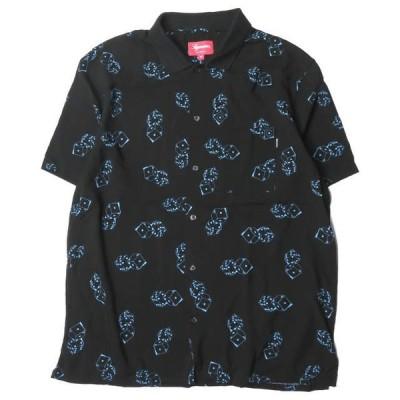 シュプリーム Supreme 19SS Dice Rayon S/S Shirt  ダイスレーヨンショートスリーブシャツ M ブラック 半袖 サイコロ プリント トップス