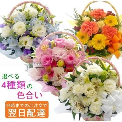 花 アレンジメント お祝い 誕生日 プレゼント 可愛い 贈り物 色合いを選べるおまかせアレンジメント