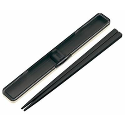 音のならない箸箱セット レトロフレンチ ブラック(黒) ABC45 スケーター(SKATER)