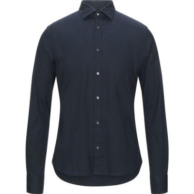 イエスズィー バイ エッセンツァ YES ZEE by ESSENZA メンズ シャツ トップス solid color shirt Dark blue