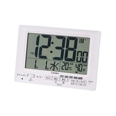 ランデックス(Landex) 目覚まし時計 電波 デジタル neoプラスタイマー タイマー 機能付き 常時点灯 置き掛け兼用