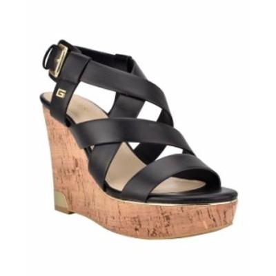 ゲス レディース サンダル シューズ Women's Hearth Wedge Sandals Black Sy