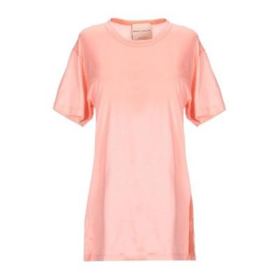 ERIKA CAVALLINI Tシャツ  レディースファッション  トップス  Tシャツ、カットソー  半袖 サーモンピンク
