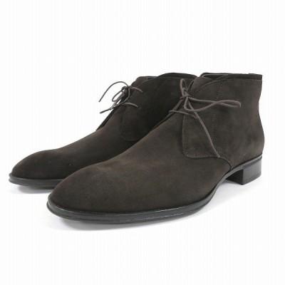 タケオキクチ 070-01431 チャッカブーツ ブラウン 靴 メンズ 小物 【中古】【あすつく】