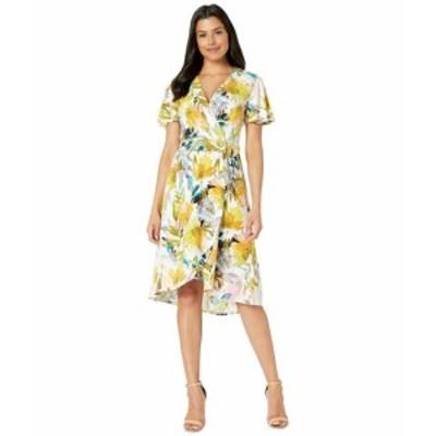 London Times ロンドンタイムス ドレス 一般 Wrap Dress w/ Flutter Sleeveless