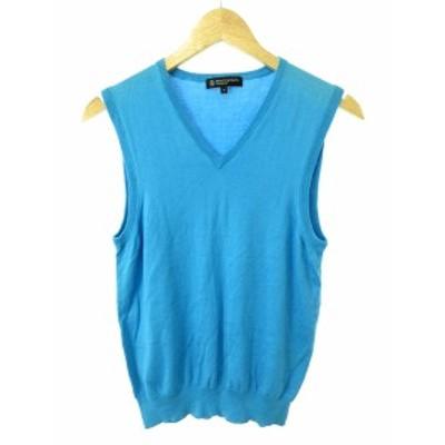 【中古】B&Y ユナイテッドアローズ ビューティー&ユース セーター ニット ノースリーブ Vネック S 水色 ブルー レディース