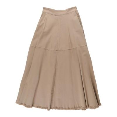フェデリカ・トシ FEDERICA TOSI ロングスカート キャメル 48 コットン 98% / ポリウレタン 2% ロングスカート