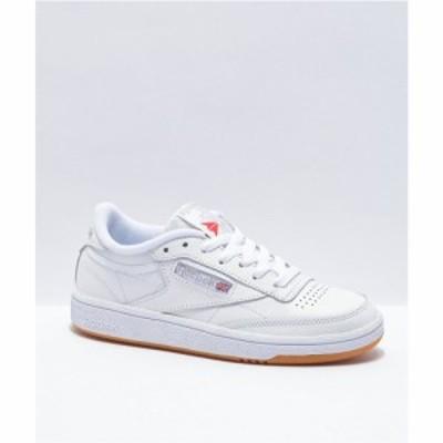 リーボック REEBOK INTERNATIONAL LTD. レディース スニーカー シューズ・靴 reebok club c 85 white. light grey and gum shoes White