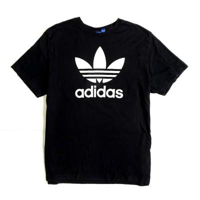ビッグサイズ adidas アディダス フロントロゴTシャツ プリントTシャツ メンズ2XL【SA2107】