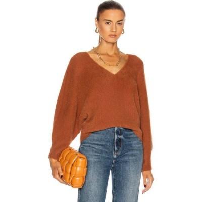 ミシェル メイソン Michelle Mason レディース ニット・セーター Vネック トップス oversized v-neck sweater Copper