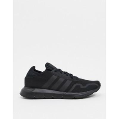 アディダス メンズ スニーカー シューズ adidas Originals Swift Run X sneakers in triple black Black
