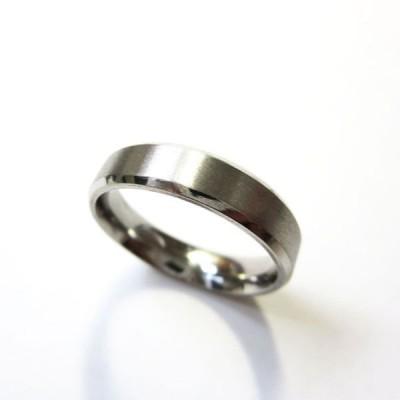 ステンレスリング 指輪 シンプルつや消しリング RS09