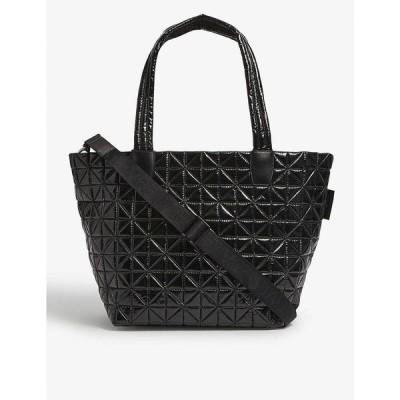 ヴィーコレクティヴ VEE COLLECTIVE レディース トートバッグ バッグ Vee medium vinyl-coated recycled-nylon tote bag BLACK VINYL