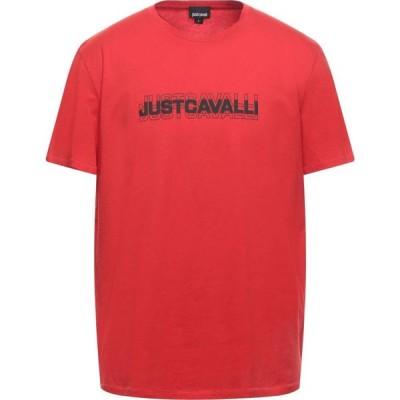 ジャスト カヴァリ JUST CAVALLI メンズ Tシャツ トップス T-Shirt Red