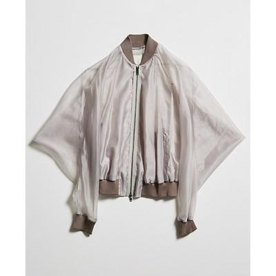 <divka(Women)/ディウカ> Silk/Pe Chambray Organdy Jacket 1 grey【三越伊勢丹/公式】
