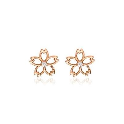 FANCIME ダイヤモンド K18ピンクゴールド 桜 さくら ピアス レディース ギフトラッピング済 誕生日 記念日 クリス