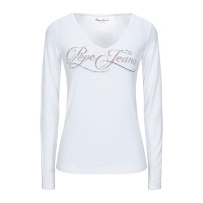 ペペ ジーンズ PEPE JEANS T シャツ ホワイト XL レーヨン 95% / ポリウレタン 5% T シャツ