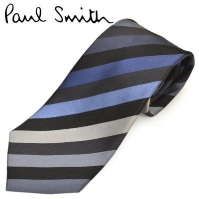 ネクタイ ポールスミス メンズ Paul Smith マルチストライプ柄シルクネクタイ(サイズ剣幅8cm)eps20w048 ALU16-70 グレー