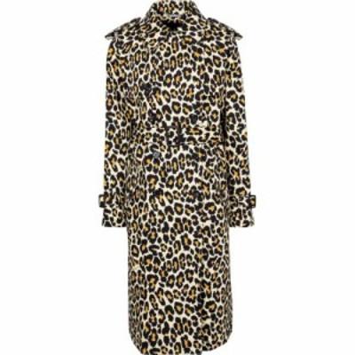 マーク ジェイコブス Marc Jacobs レディース トレンチコート アウター Leopard-print denim trench coat Natural