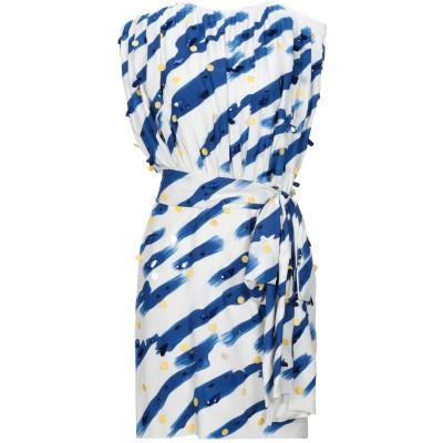 モスキーノ MOSCHINO ミニワンピース&ドレス ブルー 36 レーヨン 79% / シルク 21% ミニワンピース&ドレス