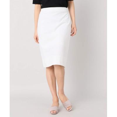レディース ベーセーストック カットミラノタイトスカート ホワイト フリー