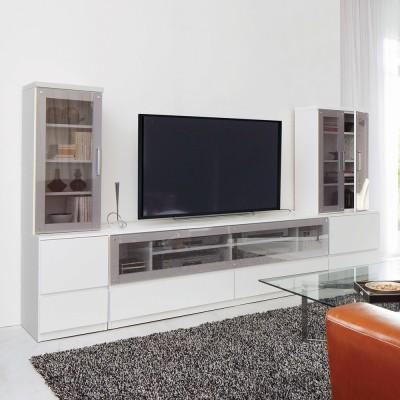 ダイニングテーブルからも見やすいミドルテレビ台シリーズ キャビネット幅60cm ホワイト