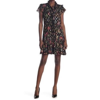 デレクラム レディース ワンピース トップス Edith Ruffle Hem Dress BLACK
