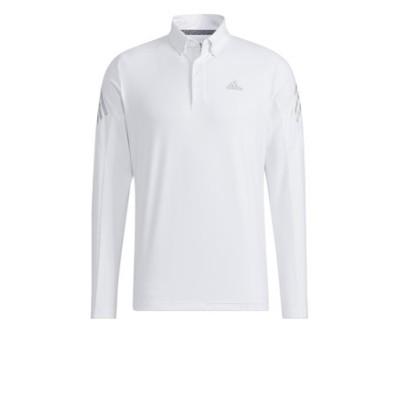 アディダス(adidas)AERORDY ストレッチ長袖ボタンダウンシャツ BO355-GT3443 WH