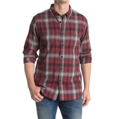 イズキール メンズ シャツ トップス Petty Long Sleeve Woven Shirt RED