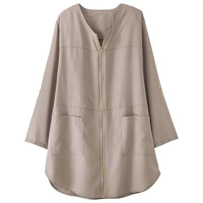 アウター リヨセル100%ジッパーデザインジャケット