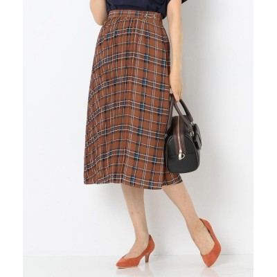 any SiS オータムカラーチェックシフォン スカート