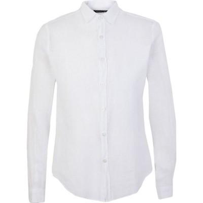 クーン KOON メンズ シャツ トップス linen shirt White