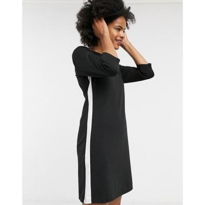 オンリー レディース ワンピース トップス ONLY long-sleeve midi dress in black