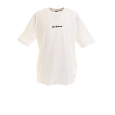 ベンデイビス(BEN DAVIS)バックプリント ビッグシルエット フットボール 半袖Tシャツ 0580020-WHT