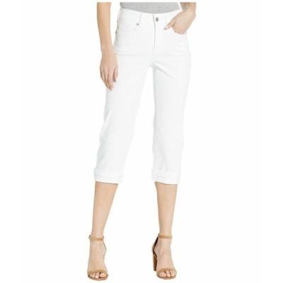 エヌワイディージェイ デニム ボトムス レディース Marilyn Crop Cuff Jeans with Frayed Cuffs in Optic White Optic White
