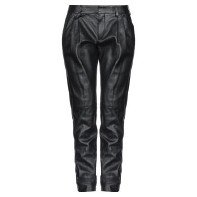 SAINT LAURENT パンツ ブラック 36 羊革(ラムスキン) 100% パンツ