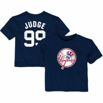 Majestic マジェスティック スポーツ用品  Majestic Aaron Judge New York Yankees Infant Navy Player Cap Logo Name & Number T-Shirt