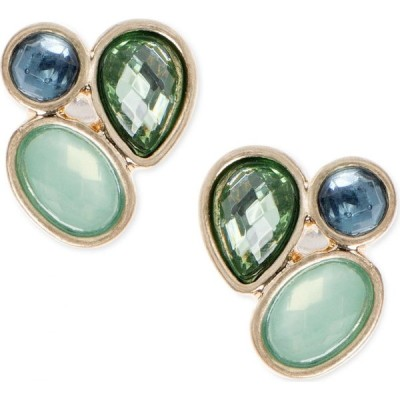 ローナ&リリー lonna & lilly ユニセックス イヤリング・ピアス ジュエリー・アクセサリー gold-tone stone cluster stud earrings Green