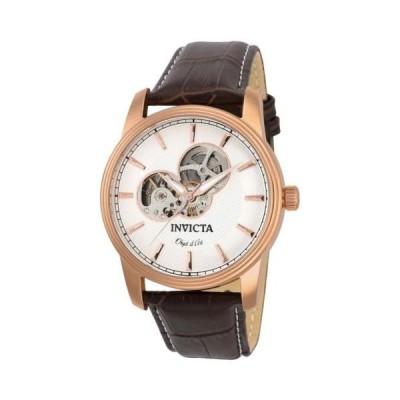 腕時計 インヴィクタ Invicta 22618 Gent's White Semi-Skeleton Dial Automatic Watch