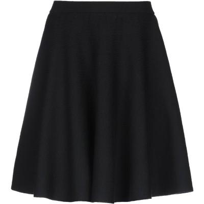 モスキーノ MOSCHINO ひざ丈スカート ブラック 40 バージンウール 100% ひざ丈スカート