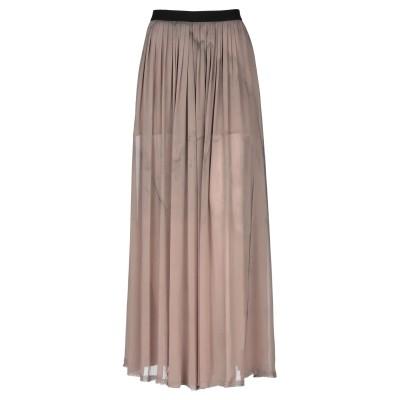 ENZA COSTA ロングスカート ライトブラウン 2 ポリエステル 100% ロングスカート