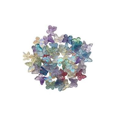 ミニちょうちょ60個 ガラスパーツ ハンドメイド材料 蝶 チョウ イヤリング・ピアス・ブローチ クラフト ビーズ