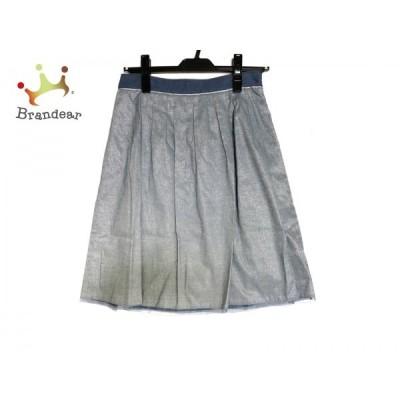 ジャスグリッティー スカート サイズ2 M レディース 美品 ライトブルー×シルバー×ブルー       スペシャル特価 20200826