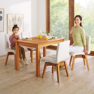 ナチュラルモダン天然木伸長式ダイニング オーク 伸長式テーブル 幅110・150cm
